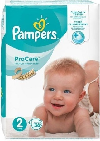 PAMPERS Pro Care 2 (3 - 6kg) Pieluchy x 36 szt.