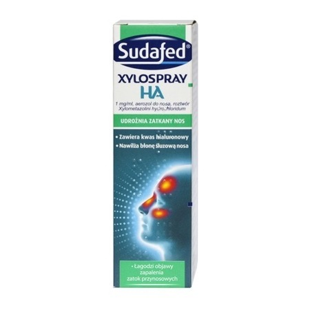 SUDAFED XyloSpray HA aerozol do nosa 1 mg/ml roztwór 10 ml